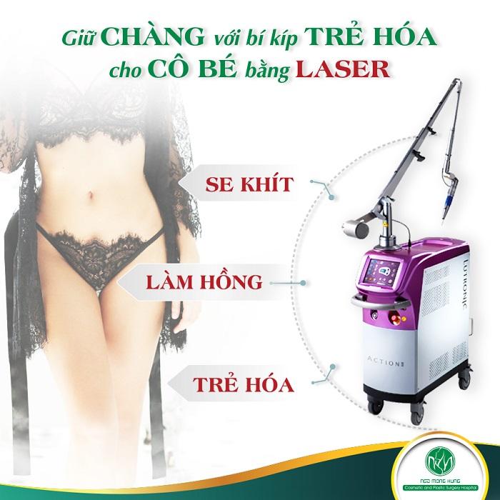 Trẻ hóa vùng kín không phẫu thuật giá bao nhiêu - Công nghệ Laser hiện đại