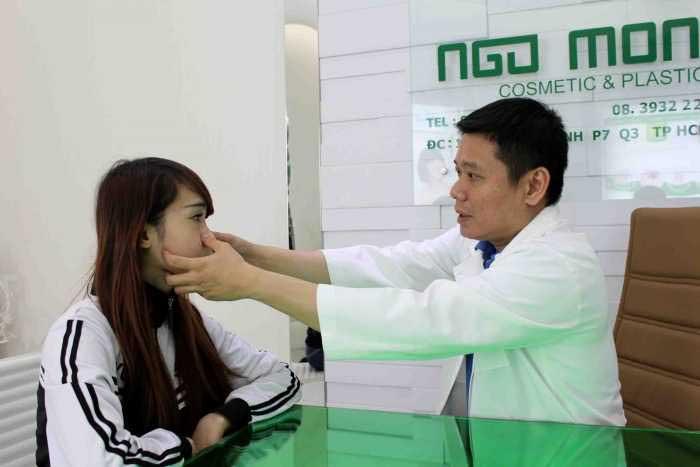 Thu gọn cánh mũi bằng cách cuộn bên trong