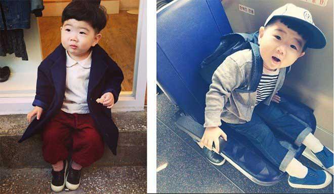 Em bé Hàn Quốc có đôi mắt biết cười