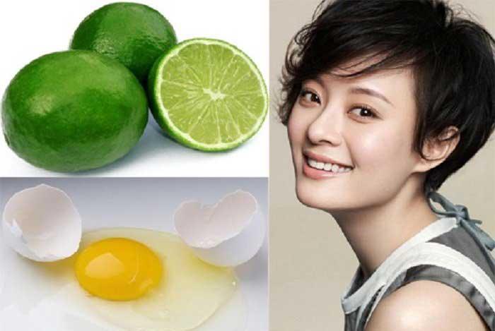 Căng da mặt với lòng trắng trứng gà