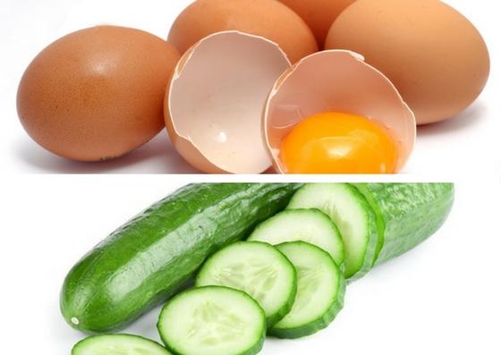 Xóa nếp nhăn vùng mắt bằng trứng gà