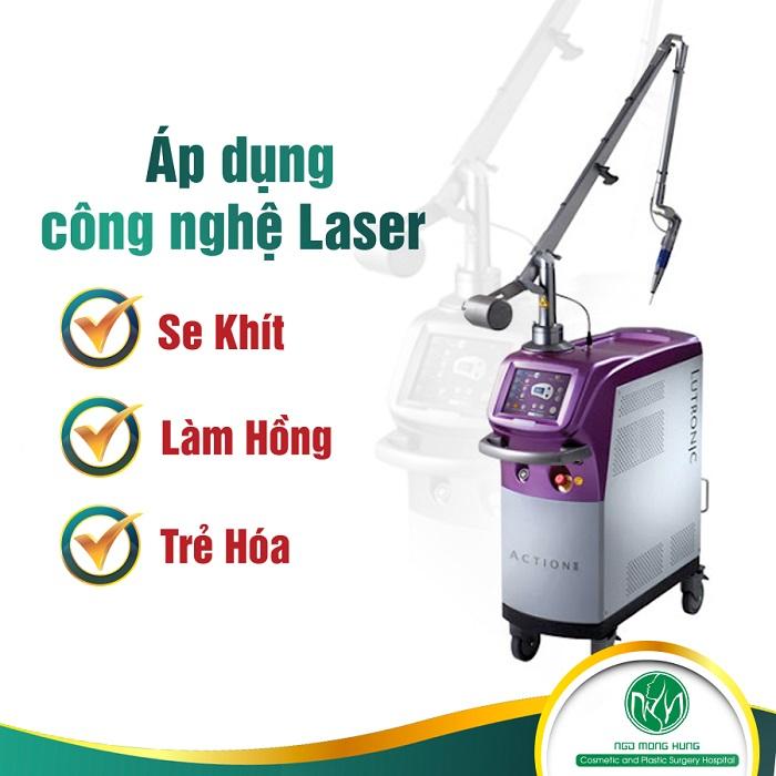 Bài tập thu hẹp vùng kín - Công nghệ Laser