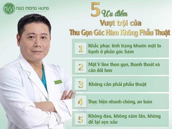 Thu gọn góc hàm không phẫu thuật