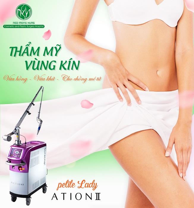 Làm trắng vùng bikini - Công nghệ thẩm mỹ vùng kín Laser Petit Lady Action II